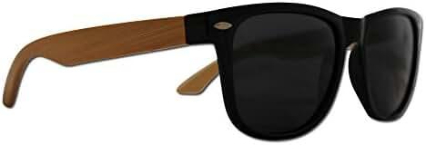 Wood Wayfarer Sunglasses by Eye Love, Polarized, Lightweight, 100% UV Protection