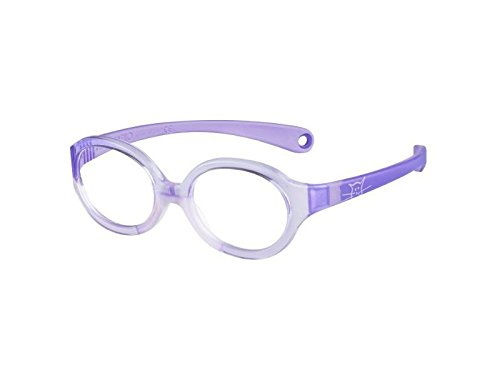 - Safilo Unisex Kids model SA0001.0172 Crystal Lilac Oval 36 mm prescription Frames