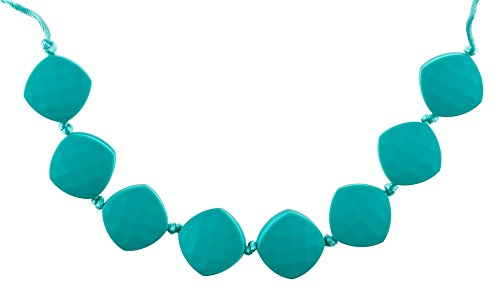 [Chew-Choos 'Sweet pea' Silicone Teething Necklace (Turquoise)] (Pea Costumes)