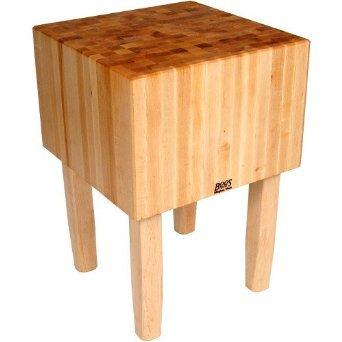 BoosBlock AA Professional Prep Table with Butcher Block Top