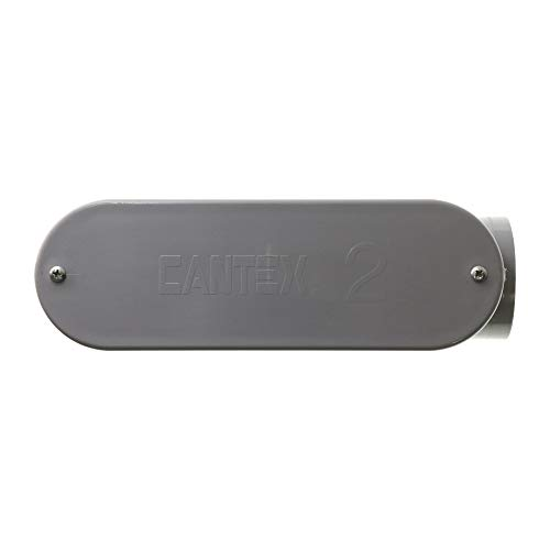 Cantex 5133668 Non-Metallic Rigid PVC Type-LB Conduit Access Body Fitting, 2-Inch