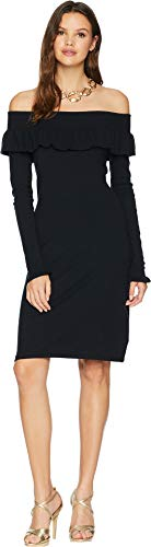 Lilly Pulitzer Women's Moda Off-The-Shoulder Sweater Dress Onyx ()