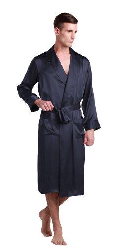 LILYSILK-Mens-Silk-Robe-Long-Tea-Length-Lapel-Collar-22-Momme-Pure-Silk