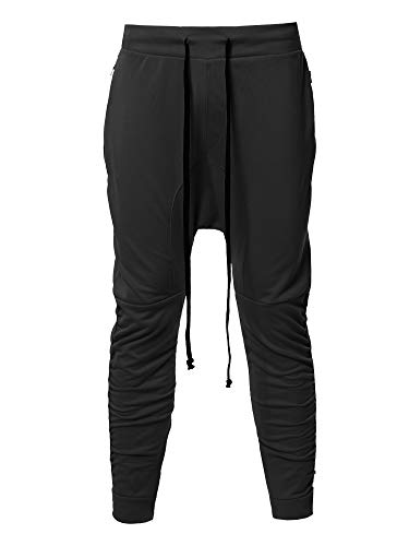 Style by William Baggy Harem Sportswear Jogger Pants Black XL