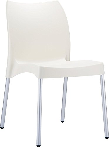 Clear Chair Store 049BE Vita Indoor and Outdoor Stacking Chair (Set of 4), Beige
