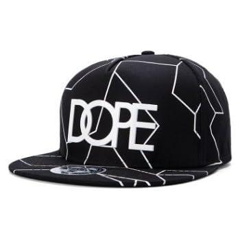 ad6b2b35195 New  DOPE  Snapback Cap Black Baseball Hip HOP Fitted Flat Peak HAT(WK)  (Color1)