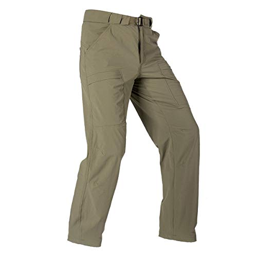 FREE SOLDIER Men's Outdoor Cargo Hiking Pants Lightweight Waterproof Quick Dry Tactical Pants Nylon Spandex(Mud 30W/30L) (Best Mens Climbing Pants)