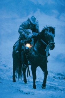 Winter Save by David Stoecklein Quality Western Art Print Poster, Overall Size: 19.5x24, Image Size: 12.75x18.25