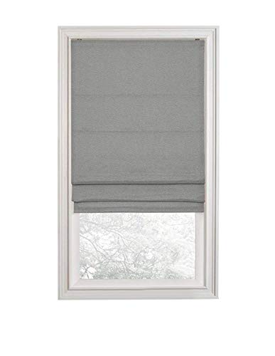 ns Premium Room Darkening Cordless Roman Shades - Assorted Sizes, Styles & Colors (Textured Gray, 28 in.) ()