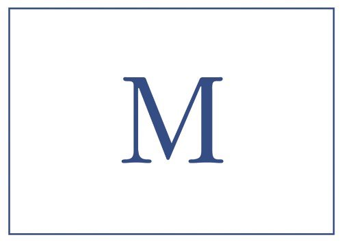 Thank You Notes Personalized Stationery Note Cards Monogrammed Your Initial Pack of 32 Blue Letter M by Caspari