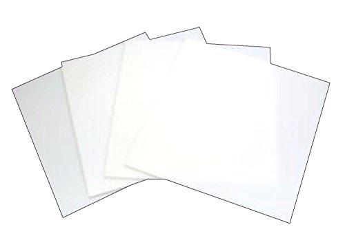 System 96 8inch White Glass Squares - 4 Pack [Home]