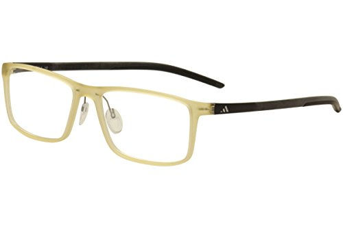 Adidas Men's Eyeglasses Litefit A692 A692 6110 Buff/Black Optical Frame - Frame Adidas