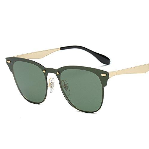 Unidos gafas de gafas los Una Marco Unidos de C4 Europa polarizadas Europa de remache y clásico 2018 Estados sol sol Dorado gafas Estados Gafas sol hombre los de de Película Verde de y antTR