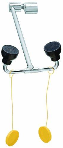 Bradley S19-270JD Swing Down Safety Eye/Face Wash, Deck/Cabinet Mount, 0.4 GPM Water Flow, 8