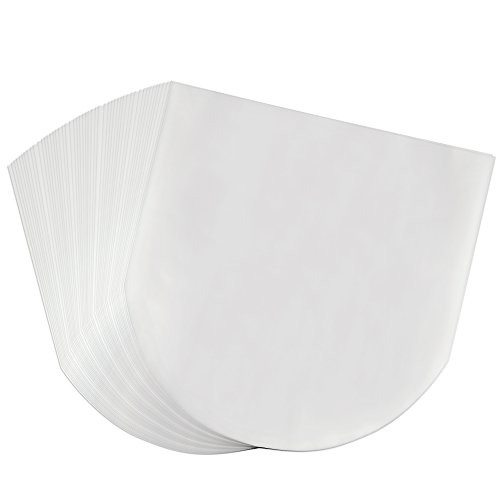 OPount 50 Pieces Semi-Transparent Inner Plastic Record Cover Sleeves for 12 inch Vinyl LP Album
