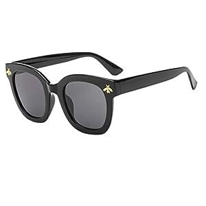 Sunglasses,YJYDAAD Women Man Vintage Bees Sunglasses Retro Big Frame Eyewear Fashion (A)