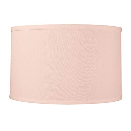 16x16x8 Premium Pale Dogwood Pink Hardback Drum Lampshade by Home Concept - Perfect for Floor or Larger Table Lamps - Pair with a Swag Cord for an Easy Pendant