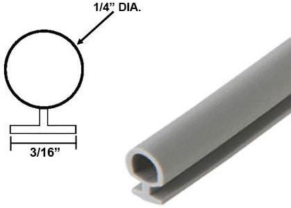 7//16 DIA 3//16 Backing 15 Ft. Automotive Black Silicone Bulb Type Gasket
