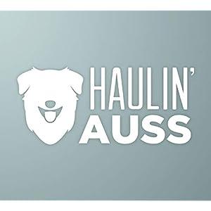 MakeMarksGR Haulin' Auss | Australian Shepherd Dog Vinyl Decal 1