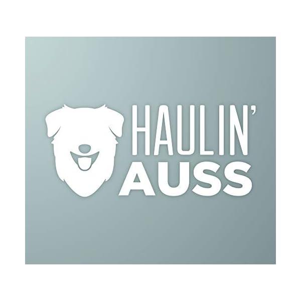 MakeMarksGR Haulin' Auss   Australian Shepherd Dog Vinyl Decal 1