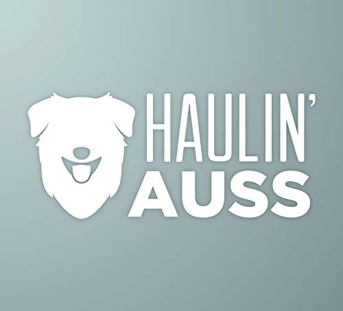Dog Sticker Shepherd (MakeMarksGR Haulin' Auss | Australian Shepherd Dog Vinyl Decal)