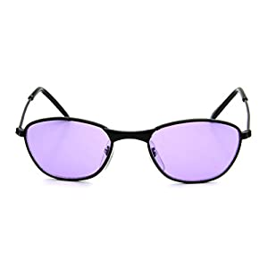 New Cute Tiny Small Baby Sunglasses 0-12 Months Black Metal Lightweight Purple Lens
