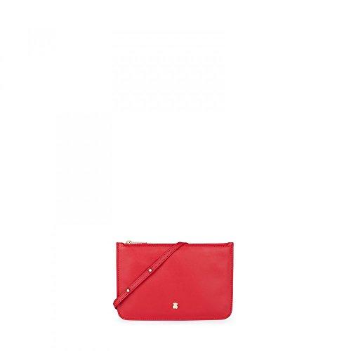 Tous Mini Enara, Bolso Bandolera para Mujer, 1x14x21 cm (W x H x L) Rojo (Red)