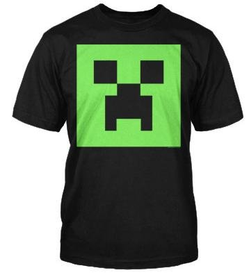 Minecraft Creeper Glow in the Dark Face Youth Tee - Youth Medium (10-12) -