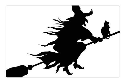(Tree26 Indoor Floor Rug/Mat (23.6 x 15.7 Inch) - Witch Evil Scary Spooky Halloween Flying)