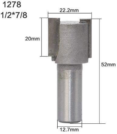 NO LOGO ZZB-ZT, Eckenrundfräser 1PC 1 / 4Shank 1/2 Shank Straight/Dado Fräser Durchmesser Holz Schneidwerkzeug (Size : 8)