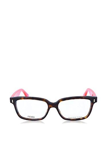 Fendi Montures de lunettes 0035 Pour Femme Grey Tortoise / Pink, 51mm EQT: Tortoise / Fluo Pink