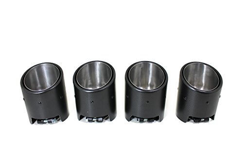 (Matte Carbon Fiber Exhaust Tips for 2008-2015 Nissan R35 GT-R)