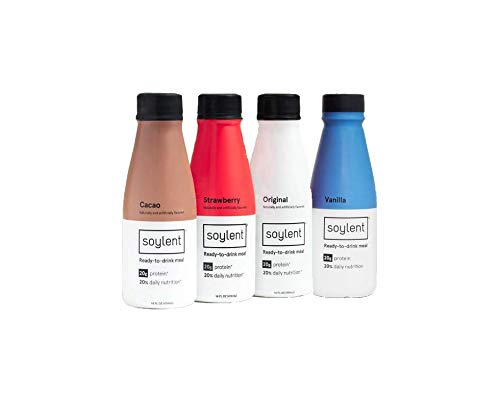 Soylent Meal Replacement Shake, 4 Flavor Variety Pack, 14 oz Bottles (Packaging May Vary) (Pack of 12)