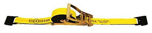 2'' x 30' Self-Contained Ratchet Tie Down Strap with Flat Hooks - w/ Webbing Made in USA | TieDownsPlus by Tie Downs Plus