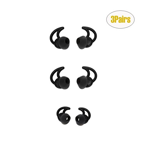 Botrong 3 Pairs Replacement Noise Isolation Silicone Earbuds Tips for Bose QC20 QC30