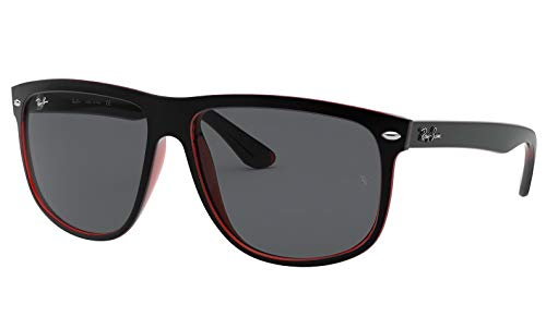 Ray-Ban Highstreet TOP MAT Black on RED Trasparent / Grey RB 4147 6171/87 ()