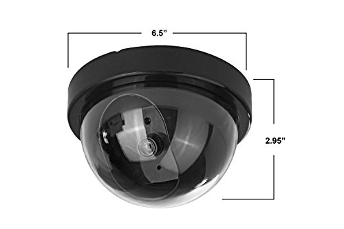 (4 Pack) Fake Dummy Security CCTV Dome Camera With Realistic Look Recording Flashing Red LED Light Indoor And Outdoor Use, For Homes & Business- By Armo by Armo (Image #1)