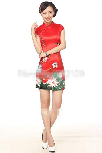 Cheongsam Mujer la Flor Barato Loto Qipao Vestido de Reveryml Chino para Blue Vestidos Estilo de Vestidos la Tradicional Venta Ropa China de Afqzx0xwd