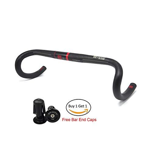 Platt Road Bike Handlebars Bend Carbon Handlebar Drop bar 31.8mm,UD Matte (Best Carbon Road Handlebars)