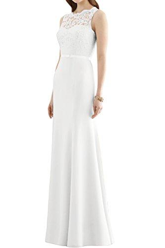 Missdressy -  Vestito  - linea ad a - Donna bianco 46
