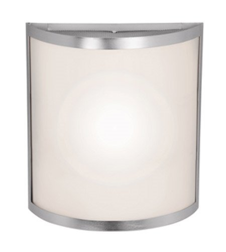 Wall Sconces 1 Light with Brushed Steel Finish and Steel Material 11 inch 16 Watts ()