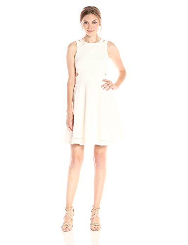 Dress Fit Flare French Whisper Women's and Connection Lula White Zgq0S