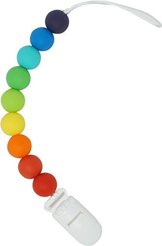 (Meerkatto Signature Silicone Pacifier Clip (Rainbow))
