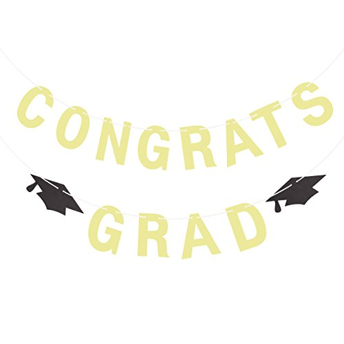 LUOEM 2018 Graduation Banner Sign Graduation Party Decorations Class of 2018 Grad Garland Celebrate Bunting -