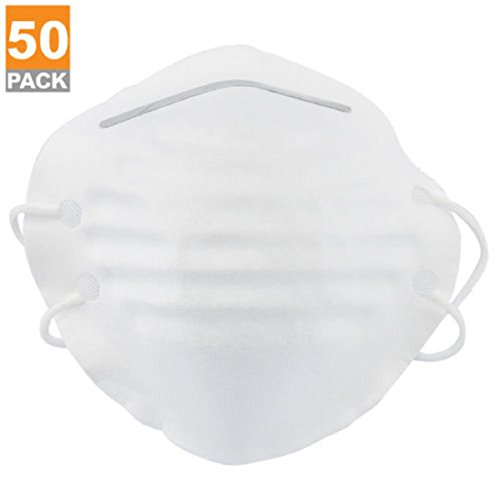 50 Pieces Dust Mask with Double Straps Breahing Filter (Ace White Painters)