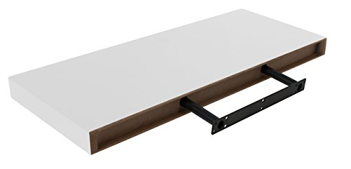 Sorbus Floating Shelf — Hanging Wall Shelves Decoration — Perfect Trophy Display, Photo Frames (White) by Sorbus (Image #6)