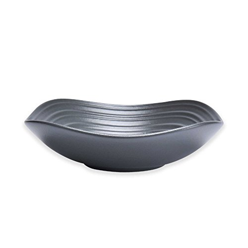 Mikasa Swirl Square Fruit Bowl in Graphite (Set of 4) ()