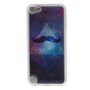 Diseño del estuche rígido misterio barba patrón epoxi para el iPod touch 5