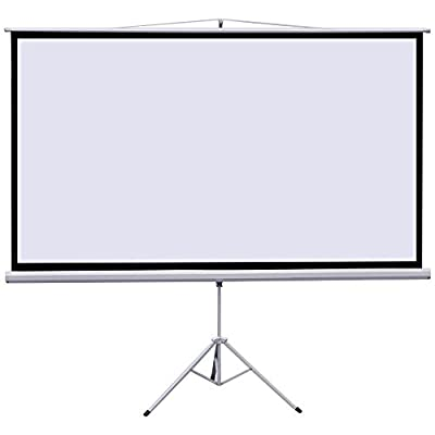 "New Portable 80"" Projector 16:9 Projection Screen Tripod Pull-up Matte White TS"