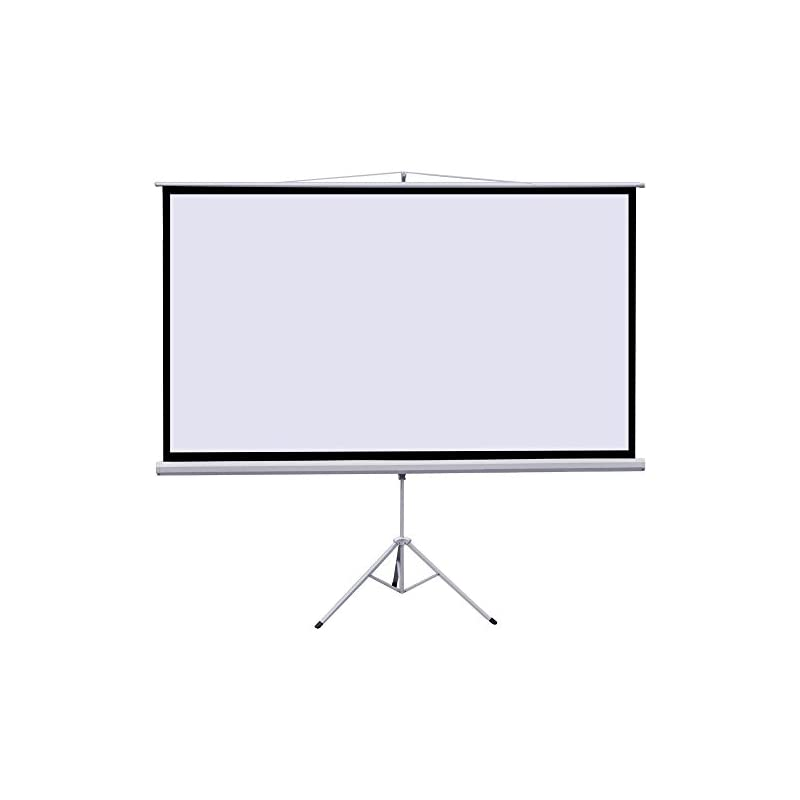 "100"" Portable Indoor Outdoor Projector Screen, 100 Inch Diagonal Projection HD 4:3 Projection Pull Up Foldable Stand Tripod"